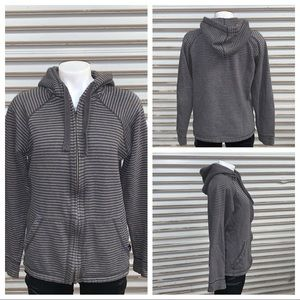 Prana stripped zip up hoodie with pockets